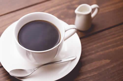 半身浴でのコーヒータイム