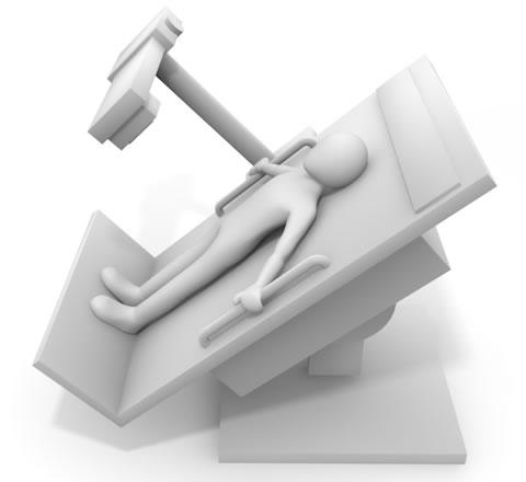 胃部X線バリウム検査の機械