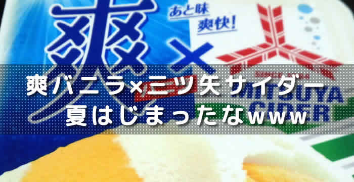 爽バニラ×三ツ矢サイダー